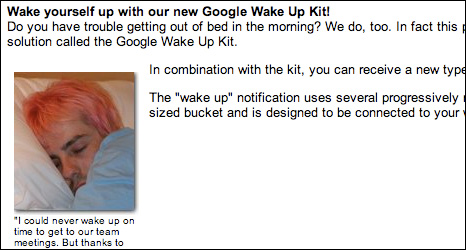 Google Wake Up Kit